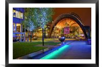 Winter Gardens and Millennium Square in Sheffield , Framed Mounted Print
