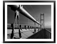 Humber Bridge in Mono, Framed Mounted Print