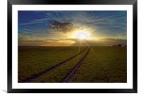 Penny Hill Sunset, Framed Mounted Print