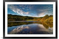 Rivelin Dams Reflections, Framed Mounted Print