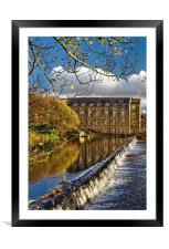 Bamford Weir and Mill , Framed Mounted Print