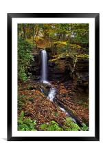 Cascading Falls in Lumsdale , Framed Mounted Print