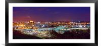 Meadowhall Interchange and Tinsley Viaduct , Framed Mounted Print