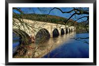 Ashopton Viaduct through the Trees, Framed Mounted Print