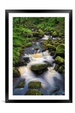 Padley Gorge                    , Framed Mounted Print