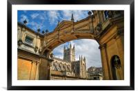 Bath Abbey and Arch                    , Framed Mounted Print