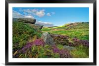 Burbage Rocks and Valley                       , Framed Mounted Print