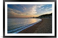 Lyme Regis Sunset                      , Framed Mounted Print