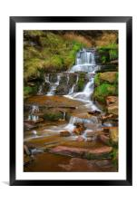 Nether North Grain Waterfalls                     , Framed Mounted Print