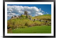 Corfe Castle                       , Framed Mounted Print