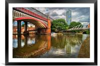 Castlefield and Beetham Tower, Manchester         , Framed Mounted Print