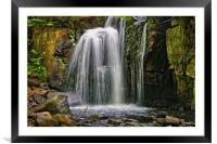 Lumsdale Falls in Summer                      , Framed Mounted Print