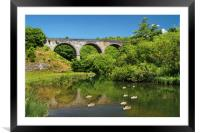 Headstone Viaduct & River Wye, Monsal Dale        , Framed Mounted Print