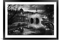 Pulteney Bridge and River Avon in Bath            , Framed Mounted Print