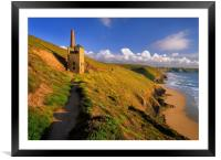 Wheal Coates & North Cornwall Coastline , Framed Mounted Print