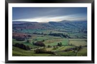 The Great Ridge & Hope Valley                     , Framed Mounted Print