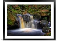 Golden Falls at Padley Gorge                      , Framed Mounted Print