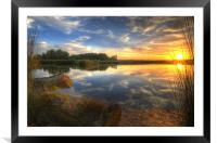 Broads at sunset, Framed Mounted Print