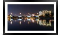 Trent Bridge Reflections, Framed Mounted Print
