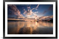 Reflections of Swanage, Framed Mounted Print