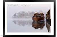 Moored in the Mist , Framed Mounted Print