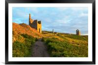 West Wheal Owles Engine House Botallack, Framed Mounted Print