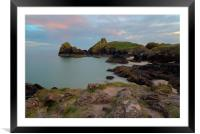Kynance Cove Sunset, Framed Mounted Print