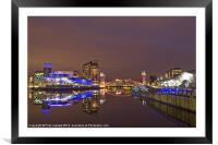 Manchester at night, Framed Mounted Print