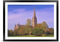 SALISBURY CATHEDRAL SPIRE, Framed Mounted Print