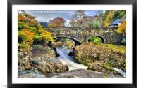 Pont y Pair Bridge, Framed Mounted Print