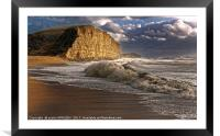 West Bay Storm And Waves, Framed Mounted Print