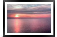 Norfolk summer sunset, Framed Mounted Print
