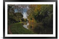 Oxford Canal in the Autumn, Framed Mounted Print