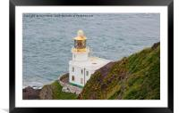 Hartland Point Lighthouse Devon, Framed Mounted Print