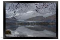 Grasmere lake with low cloud on a winter's day, Framed Print