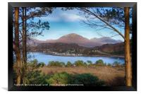 Sheildag village looking over the water, Scotland, Framed Print