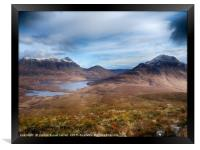 Cul Mor & Cul Beag viewed from the hike up Stac Po, Framed Print