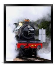 Out of the Steam, Framed Print