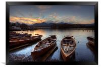 Derwent Water Rowing Boats, Framed Print