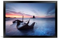 Washed Up - The Admiral at Saltwick Bay, Framed Print