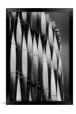 Abstract of Victoria Gate Shopping Centre Car Park, Framed Print