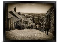 Gold Hill Shaftesbury, Framed Print
