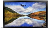 Spitfire Lake Flight , Framed Print