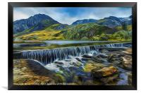 Llyn Ogwen Wier and Tryfan, Framed Print