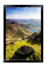 Snowdon Pyg and Miners Track, Framed Print