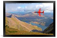 Red Arrow Low level, Framed Print