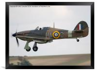 RAF Hawker Hurricane, Framed Print