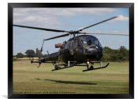 Army Scout helicopter, Framed Print