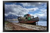Fishing boat with Ben Nevis in background, Framed Print