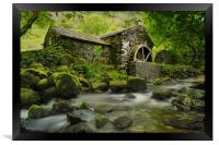 The old water mill, Framed Print